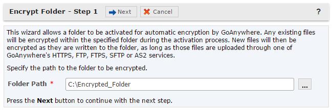 Encrypt Folder Wizard