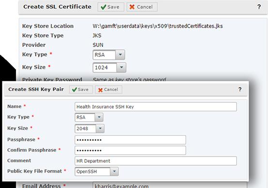 Schlüssel- und Zertifikatsverwaltung