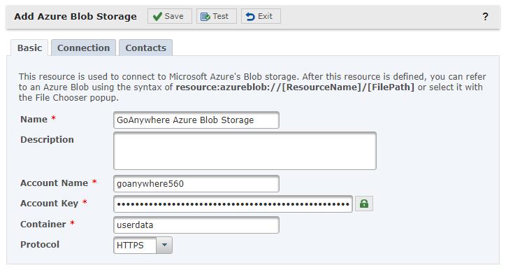 Azure Blob Storage Resource