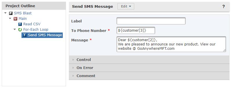 SMS Blast
