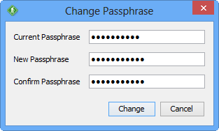GoAnywhere Open PGP Studio Change Passphrase