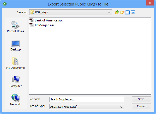 GoAnywhere Open PGP Studio Export Key