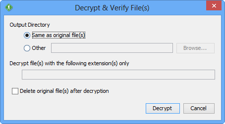 GoAnywhere Open PGP Studio Decrypt and Verify Files