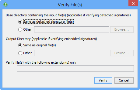 GoAnywhere OpenPGP Studio Verify Files