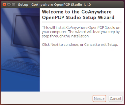 Linux/Unix Installation Welcome - GoAnywhere OpenPGP Studio