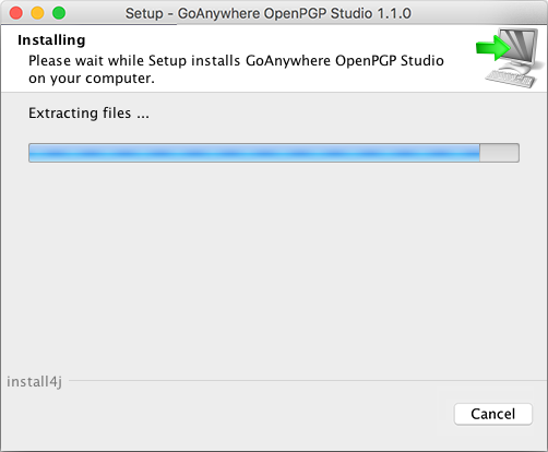Mac OS X Installation - GoAnywhere Open PGP Studio