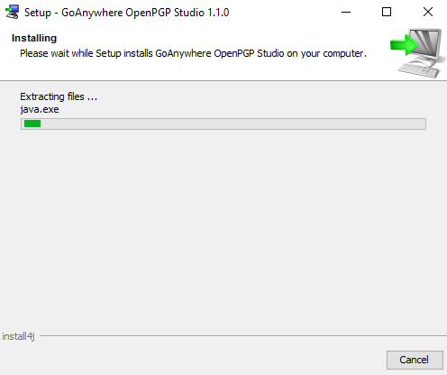 Windows Installation - GoAnywhere Open PGP Studio