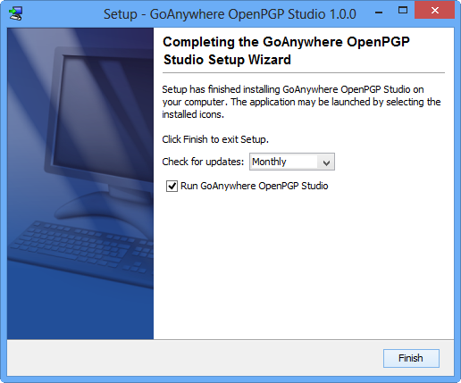 Windows Installation Completing Installation - GoAnywhere OpenPGP Studio