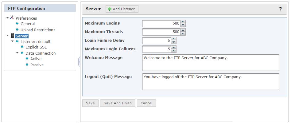 Configuración del Servidor FTP