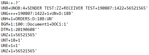 EDIFACT File