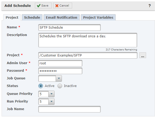 Convert a SFTP Cron Job to a Managed File Transfer Project