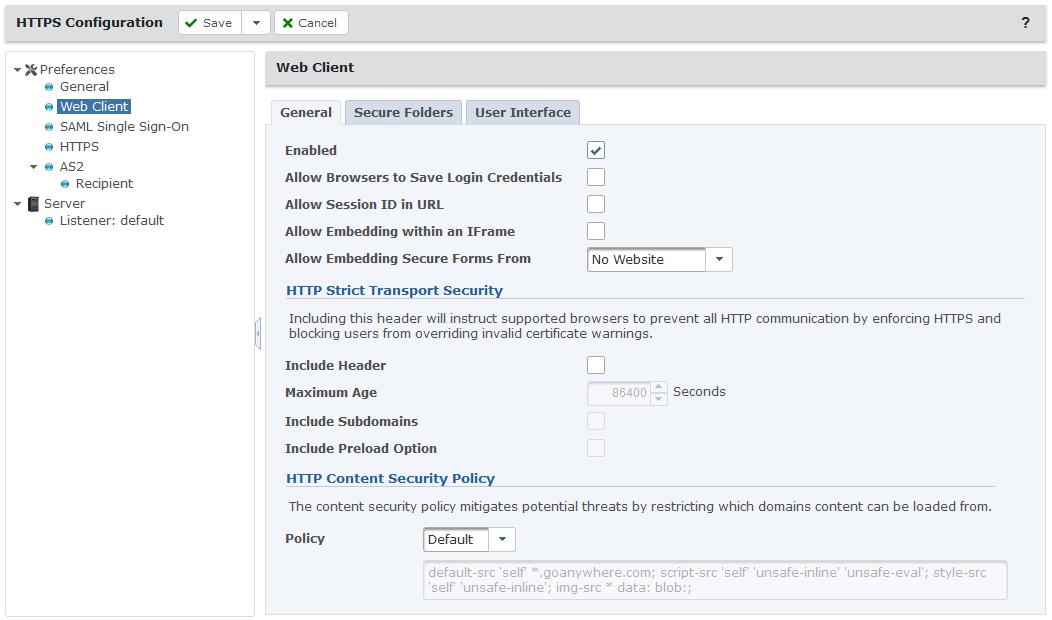 HTTPS Configuration