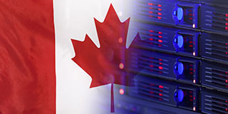Complying with Canada's Data Privacy Laws is easier with secure MFT as highlighted with image of Canada's flag and tech