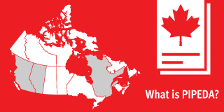 Map of Canada with the title 'What is PIPEDA'