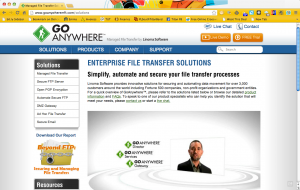 GoAnywhere.com internal website page