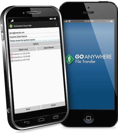Managed File Transfer Mobile App Targets Cloud Storage
