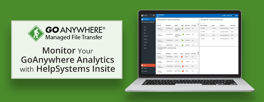 Monitor GoAnywhere Analytics with HelpSystems Insite