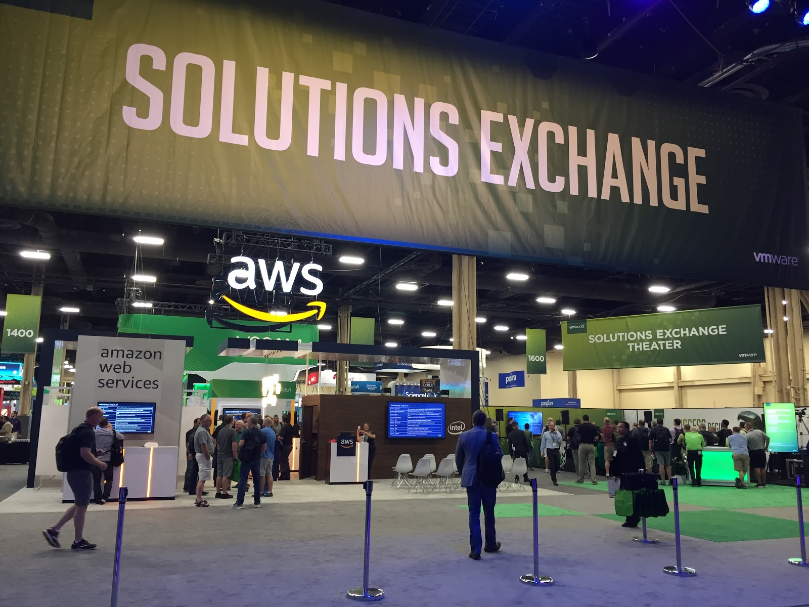 The exhibit hall at VMworld 2018.