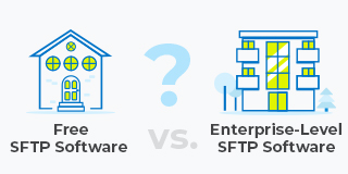free SFTP server or enterprise SFTP server?
