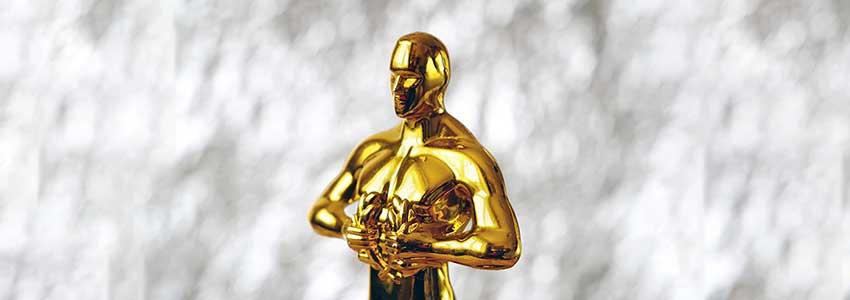 Oscar statuette celebrating GoAnywhere winning Best MFT Product