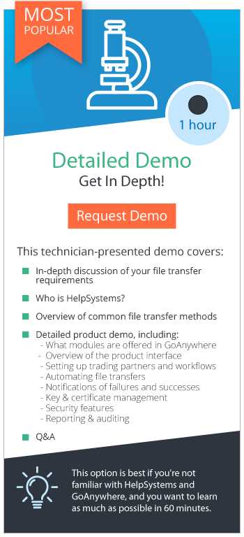 Request a Live Demo of GoAnywhere MFT