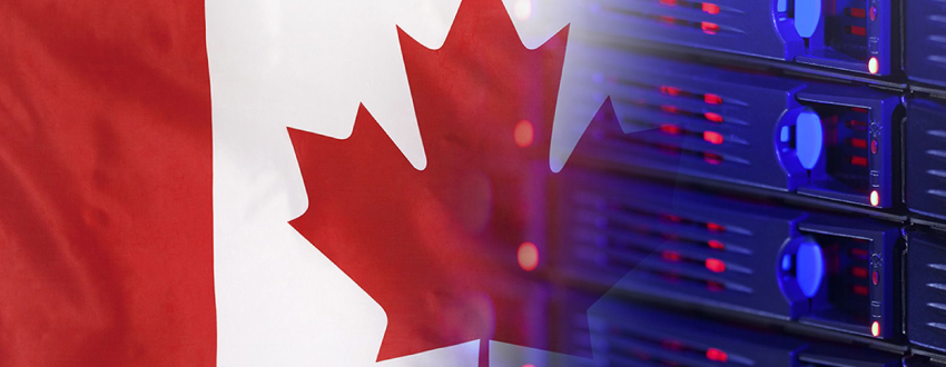 Canadian flog next to technology to signal awareness of upcoming new data privacy laws