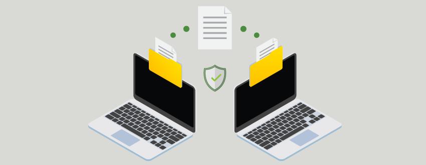 Transferring files between enterprises