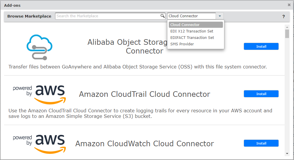 Cloud Integrations Example for Secure Cloud File Transfer