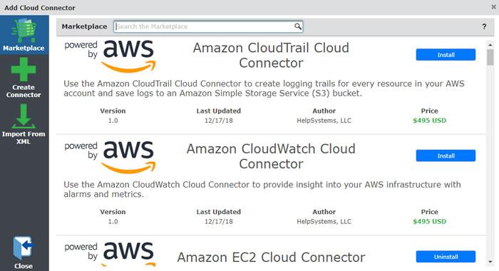 Cloud Connector Marketplace